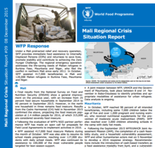 WFP MALI REGIONAL CRISIS SITUATION REPORT #9, 08 DECEMBER 2015