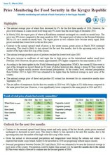 Bulletin - Price Monitoring for Food Security in the Kyrgyz Republic