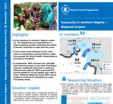 WFP INSECURITY IN NORTHERN NIGERIA SITUATION REPORT #10, 20 NOVEMBER 2015