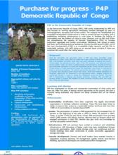 Fact sheet : P4P in the Democratic Republic of Congo