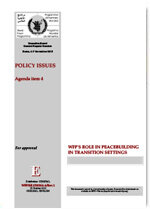 WFP's Role in Peacebuilding in Transition Settings