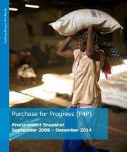 Purchase for Progress Procurement Snapshot September 2008 – December 2014