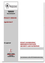 Policy on Building Resilience for Food Security and Nutrition