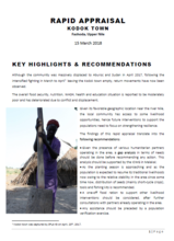 South Sudan - Report on Rapid Appraisal in Kodok Town, Fashoda, Upper Nile, March 2018