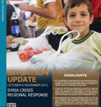 WFP's Syria Regional Situation Report, October and November 2015.
