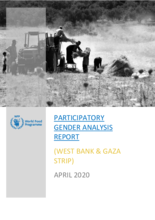 WFP Palestine - Participatory Gender Analysis Report - West Bank and Gaza Strip - April 2020