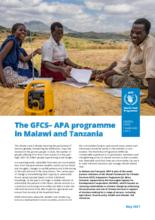 2021 - The GFCS– APA programme in Malawi and Tanzania