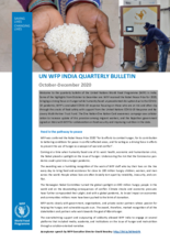 WFP India Quarterly Bulletin - October-December 2020