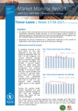 WFP Timor Leste - Market Monitor Report 13-26 September 2021