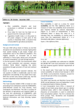 WFP Timor-Leste Food Security Bulletin - October-December 2020