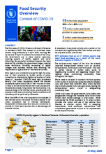 WFP Tanzania Food Security Overview - Context of COVID-19 - May 2020