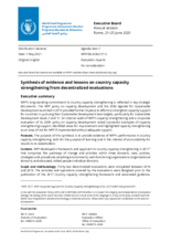 Synthesis of evidence and lessons on country capacity strengthening from decentralized evaluations