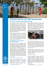WFP Mozambique - Nutrition and HIV Unit - Current and future programming, August 2020