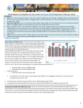 Afghanistan - Market Price Bulletins, 2019