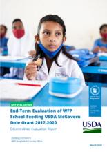 Bangladesh, School Feeding USDA McGovern Dole Grant 2017-2020: end-term evaluation