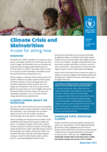 Climate Crisis and  Malnutrition - A case for acting now