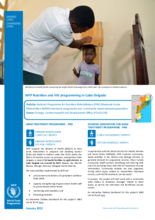 WFP Mozambique Nutrition and HIV Provincial Briefs – January 2021