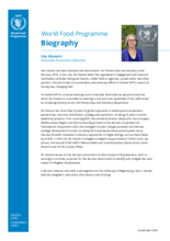 Assistant Executive Director for Partnerships & Advocacy Ute Klamert - Biography - 2020