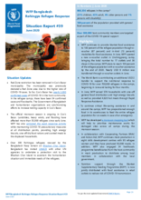 WFP Bangladesh  - External Situation Reports 2020