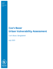 Cox's Bazar Urban Vulnerability Assessment - July 2020