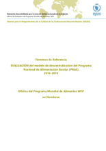 Honduras, Decentralization of the National School Feeding Programme (2016-2019): Evaluation