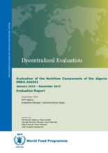 Algeria PRRO 200301: Evaluation of the Nutrition Components