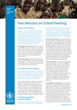 Two Minutes on School Feeding