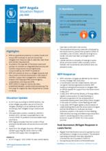 WFP Angola External Situation Reports - July-Sept 2020