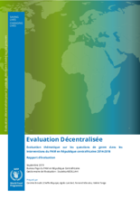 Central African Republic, Gender-Focused Thematic Evaluation