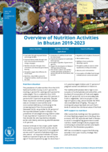 Overview of Nutrition Activities in Bhutan 2019-2023
