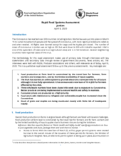 FAO/ WFP Rapid Food Systems Assessment - 8 and 23 April 2020