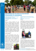 COVID-19: Adaptations to nutrition and HIV programmes in Mozambique