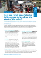 WFP Myanmar -  Post Distribution Monitoring report in Border States - May 2021