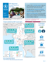 WFP Myanmar External Situation Report #3 (August 2021)