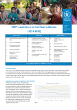WFP's support to Nutrition in Bhutan  (2019-2023)