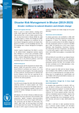 WFP Bhutan Disaster Risk Management (2019-2023)