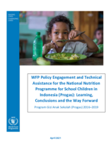 WFP Policy Engagement and Technical Assistance for the National Nutrition Programme for School Children in Indonesia (Progas): Learning, Conclusions and the Way Forward