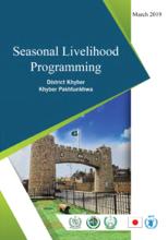Seasonal Livelihood Programming, Khyber Pakhtunkhwa, Pakistan - 2019