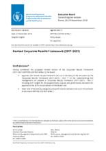 Revised Corporate Results Framework (2017-2021)