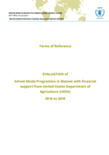 Malawi, School Meals Programme (2016-2018): an evaluation