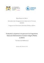 Benin, Integrated National School Feeding Programme: Joint Evaluation