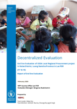 Laos, USDA Local Regional Procurement project in Nalae District, Luangnamtha Province (2016-2019): Evaluation