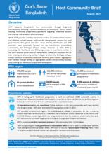 WFP Bangladesh - Cox's Bazar Host Community Brief