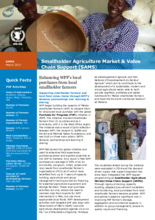 2017 -  Smallholder Agriculture Market Support (SAMS) activities - WFP Mali