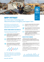 WFP FITTEST: Fast Information Technology and Telecommunications Emergency and Support Team - 2021