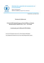 Bolivia, CP 200381: an evaluation