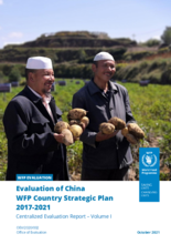 Evaluation of China WFP Country Strategic Plan 2017-2021