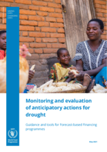 Monitoring and evaluation of anticipatory actions for drought: Guidance and tools for Forecast-based Financing programmes