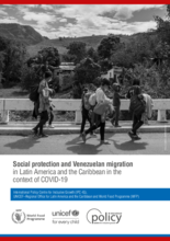 Social protection and Venezuelan migration in Latin America and the Caribbean in the context of COVID-19 - 2021