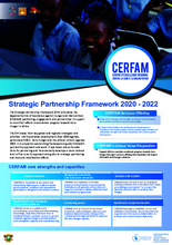 CERFAM Strategic Partnership Framework 2020 - 2022